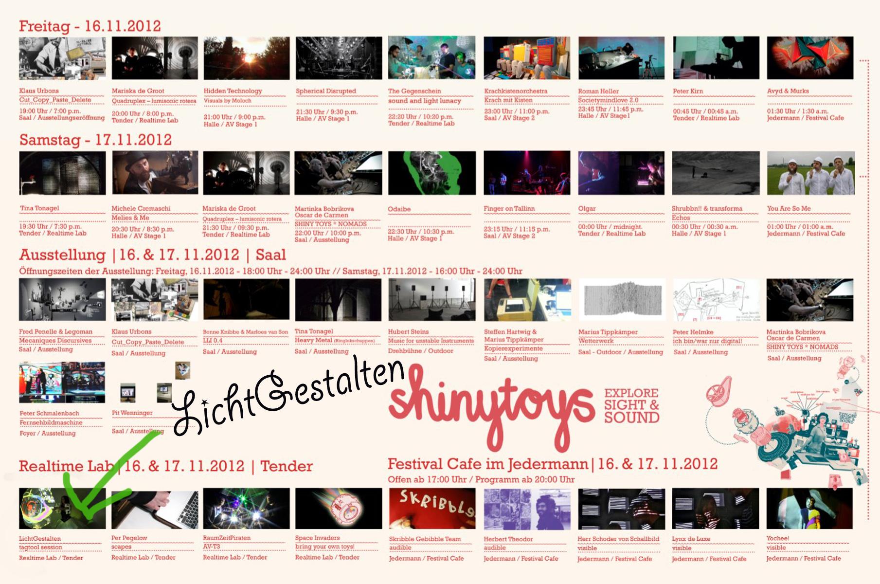 Programm Shinytoys