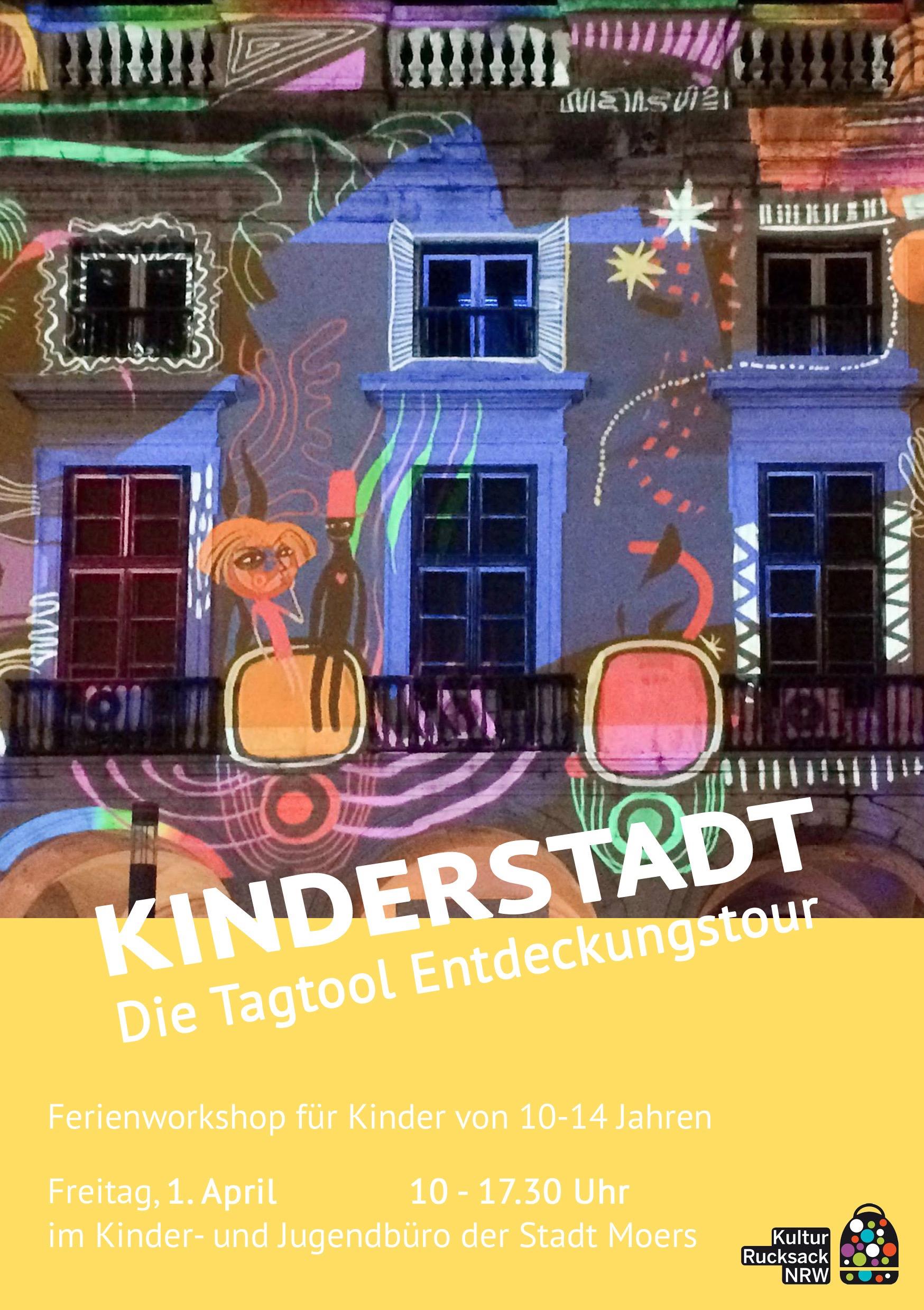Kulturrucksack Moers – Kinderstadt – die Tagtool Entdeckungstour